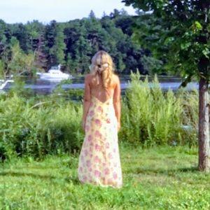 Forever 21 Yellow maxi dress size medium